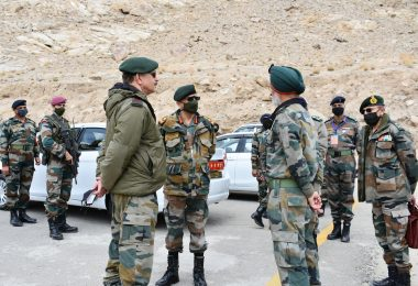 Army Chief review's situation at LAC